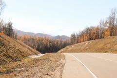 Droga wśród jesieni Zdjęcia Stock