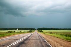 Droga w Rosyjskim lesie Fotografia Stock