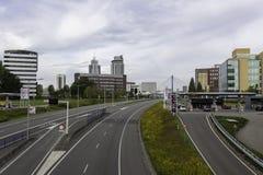 Droga w Rotterdam zdjęcia royalty free
