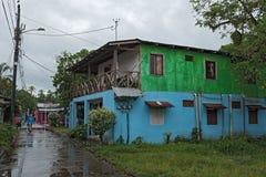 Droga w tortuguero wiosce przy dżdżystą pogodą, Costa Rica obraz royalty free