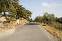 Droga w Tuscany Zdjęcia Royalty Free