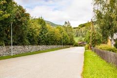 Droga w wiejskim miejscu Zdjęcia Royalty Free