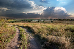 Droga w wsi obraz stock