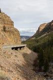Droga w Yellowstone parku narodowym Fotografia Stock
