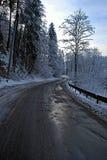 Droga w zim górach Obraz Royalty Free