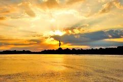 Droga wodna wschód słońca Zdjęcia Stock