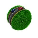 Droga wokoło trawiastej kuli ziemskiej Obrazy Royalty Free