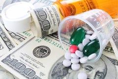 Droga y costes médicos - atención sanitaria imágenes de archivo libres de regalías