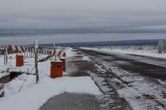 Droga z śniegiem zdjęcia stock