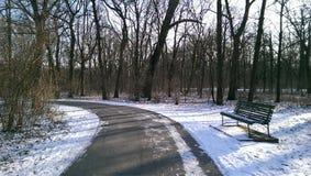 Droga z śniegiem Franzensburg kasztel Fotografia Royalty Free