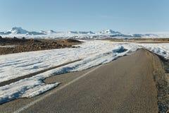 Droga z śniegiem i lodem Obraz Royalty Free