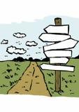 Droga z znakami Zdjęcia Stock