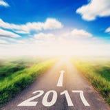 Droga zamazywał nowy rok 2017 dla Biznesowego pojęcia Zdjęcie Stock