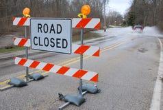 droga zamknięta Zdjęcia Royalty Free