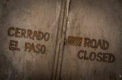 droga zamknięta Zdjęcie Royalty Free