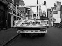 droga zamykająca w Cambridge w czarny i biały obrazy royalty free