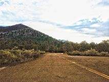 Droga zmierzchu krateru Krajowy zabytek obraz royalty free