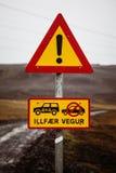 Droga znak Obrazy Stock