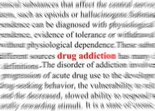 Drogadicción ilustración del vector