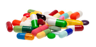 Drogas coloridas Foto de Stock Royalty Free