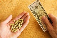 Drogas de compra Fotografia de Stock