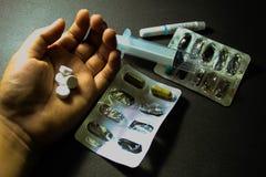 Drogas e comprimidos Fotos de Stock