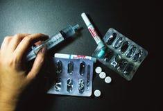 Drogas e comprimidos Foto de Stock Royalty Free