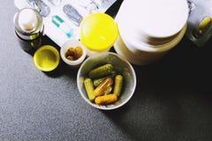 Drogas e comprimidos Imagem de Stock