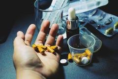 Drogas e comprimidos Fotos de Stock Royalty Free