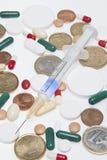 Drogas e dinheiro. Imagem de Stock