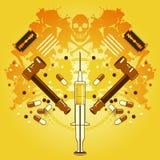 Drogas e morte Imagem de Stock Royalty Free