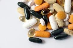 Drogas e vitaminas Fotografia de Stock