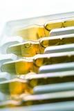 Drogas ou vitaminas no tubo de ensaio fotografia de stock