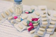 Drogas para el ataque epiléptico Imagen de archivo libre de regalías
