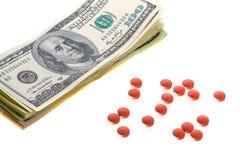 Drogas para el trato del dinero Imagen de archivo libre de regalías