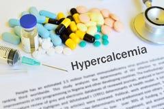 Drogas para o tratamento do hypercalcemia fotografia de stock