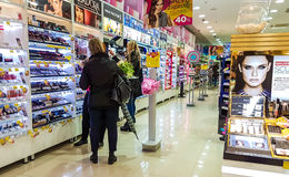Drogas shoppar i panoramagalleria Royaltyfri Bild
