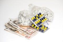 Drogas y dinero foto de archivo