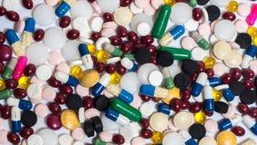 Drogas y píldoras Fotografía de archivo libre de regalías