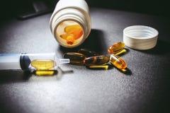Drogas y píldoras fotos de archivo libres de regalías