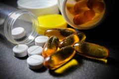 Drogas y píldoras foto de archivo libre de regalías