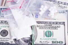 Drogas y sustancias prohibidas - comercio ilegal foto de archivo