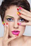 Drogato del manicure Fotografia Stock