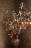 Droge bloemen in een vaas royalty-vrije stock afbeelding
