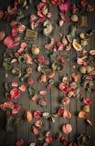 Droge bloemenachtergrond royalty-vrije stock afbeelding