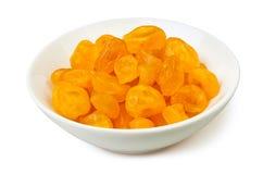 Droge citroenen in een kom Royalty-vrije Stock Afbeelding