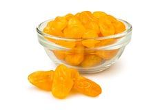 Droge citroenen in een kom Stock Foto