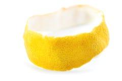 Droge citrusvruchtenschil Ondiepe Diepte van Gebied Geïsoleerde Royalty-vrije Stock Afbeelding