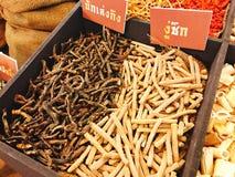 Droge Curculigo orchioides of curculiginis of van Xian van Rhizoma mao en droge Achyranthes-bidentata blume schiet wortel of Oskn stock foto