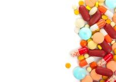 Droge in der Phiole getrennt auf Weiß Lizenzfreies Stockbild